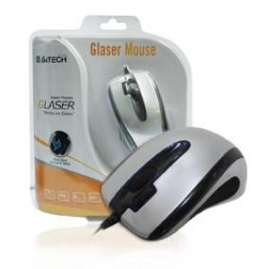Ποντίκι A4 X6-73md-1 2XCLICK Glaser Ασημί